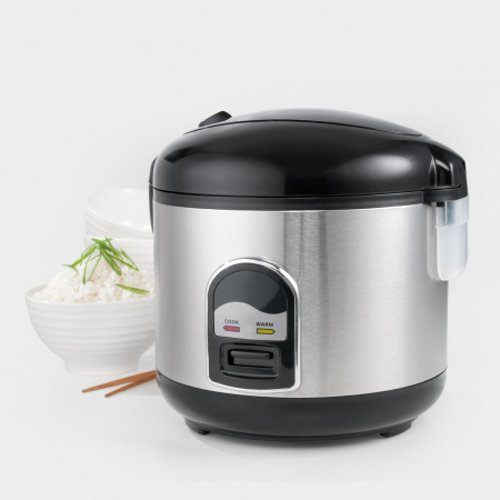 Maxim Stainless Steel Rice Cooker 8 Cup New Bourne Electronics