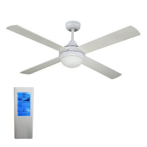 Revolve 48 Inch Ceiling Fan White With Light And Touchpad
