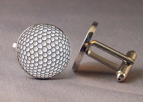 Golf ball cufflinks jk 39 s bargains for Golf buflings