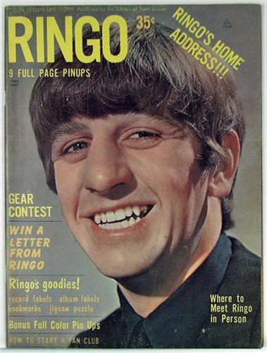 Ringo, Teen Screen Life Story Magazine Vol.1 No.1 Beatles ...  Ringo, Teen Scr...