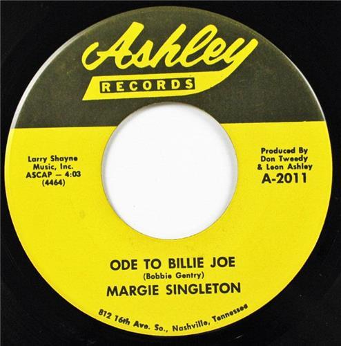 Margie Singleton, Ode To Billie Joe - Big Boys Don't Need Mamas, Ashley 45-2011
