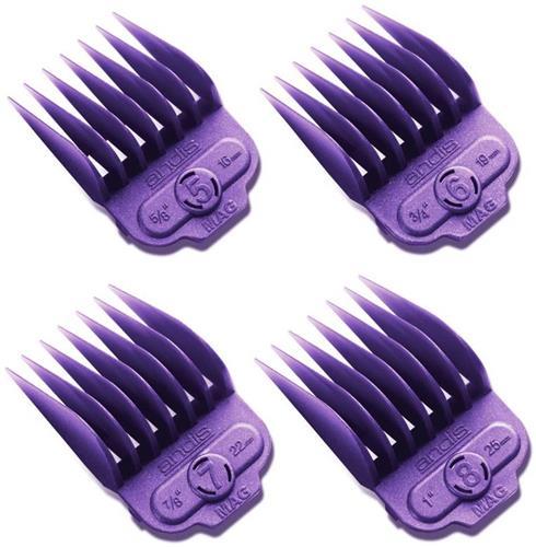 Andis 4 Piece Nano-Silver Magnetic Comb Set Pro Hair Clipper Attachments 66320