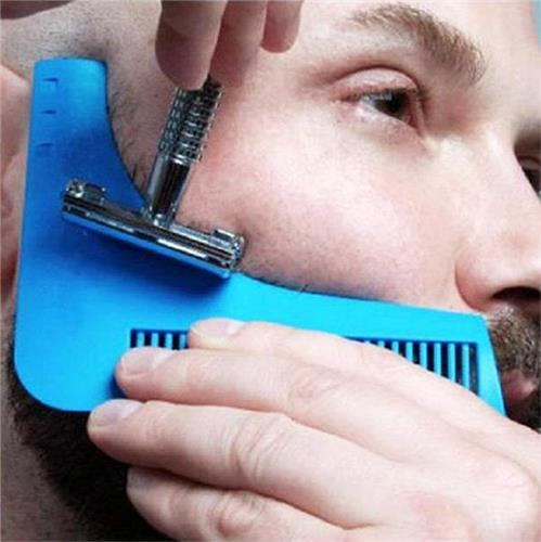 Beard Shaper Tool Facial Hair Shaping Template Styling Comb Brush For Symmetry