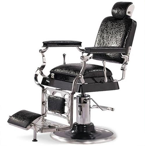 Professional Reclining Crocodile Barber Chair Antique Classic Vintage Style