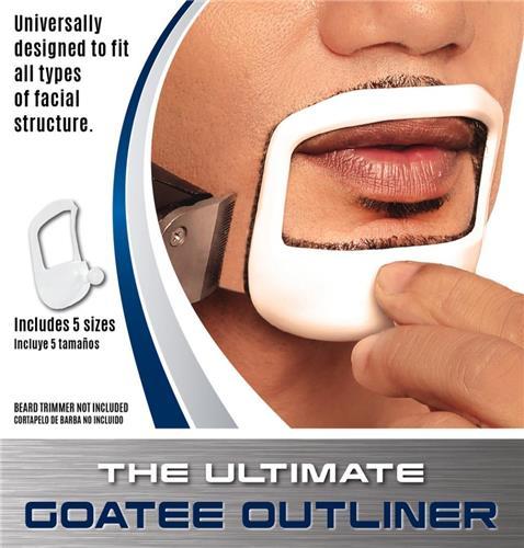 Beardoptima Goatee Outliner Perfect Beard Shaper Facial Hair Tool Template