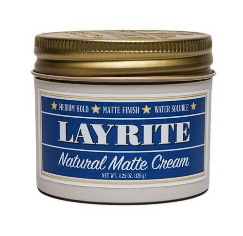 Layrite Natural Matte Cream 4.25oz Pomade Hair Styling Wax Medium Hold