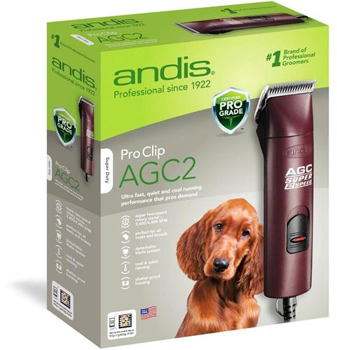 Andis AGC2 Professional 2-Speed Detachable Blade Pet Clipper 22360