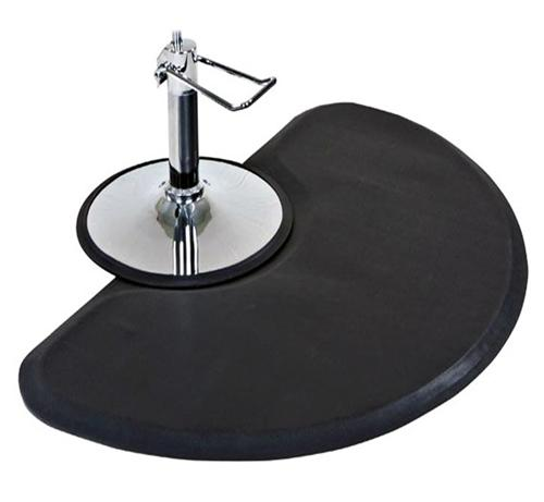 Barber Mats : Anti Fatigue Semi Circle Hair Stylist Salon Barber Floor Mat ...