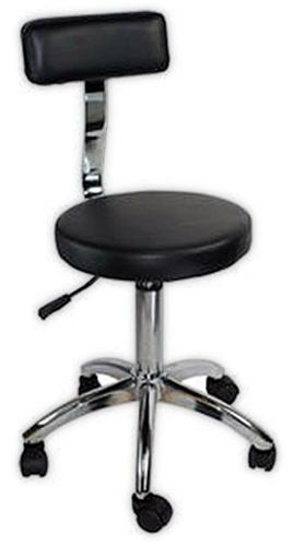 Hydraulic Stool With Backrest Beauty Salon Spa Massage Facial Chair ST002C Black