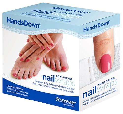 Graham HandsDown Soak-off Gel Nail Wraps 100 Count