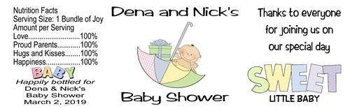 Baby Shower Water Bottle Labels Unisex - partyfavorsforall