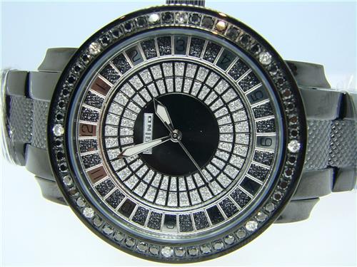 mens jojo jojino joe rodeo black diamond watch 2 25 ct jewelry mens jojo jojino joe rodeo black diamond watch 2 25 ct