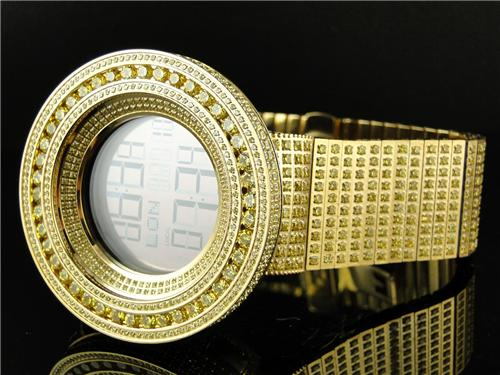 mens brand new 52mm bezel i gucci digital canary simulated diamond mens brand new 52mm bezel i gucci digital canary simulated diamond watch 50 ct