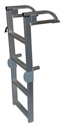 Jif Asl Pontoon Ladder 4 Step Folding Marine Supply Direct