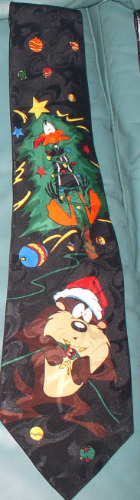Daffy Duck Taz as Santa Loony Tunes WB Licensed Tie