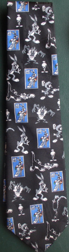 Road Runner Marvin The Martian Syvester Bugs Tweety Taz Loony Tunes WB Licensed Tie
