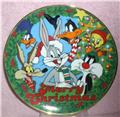 Looney Wile E. Coyote, Road Runner Daffy Duck Tweety Tunes Christmas Plate
