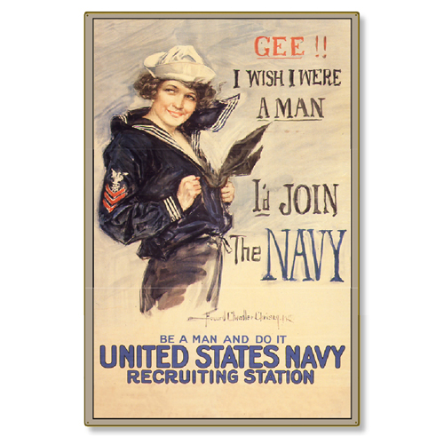 R000003-12-WWI-Navy-Poster-Gee-id-Join-steel-metal-vintage-image-wall-decor-art-panel