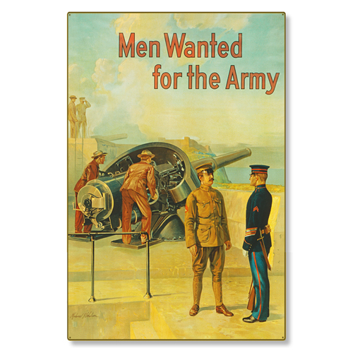 R000005-12-Men Wanted US Army-steel-metal-vintage-image-wall-decor-art-panel