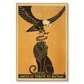 R000024-12 WWI Propaganda Poster Tribute To Britain Steel Metal Vintage Image Wall Decor Art