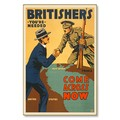 R000025-12 WWI Propaganda Poster Britishers Needed Now Steel Metal Vintage Image Wall Decor Art