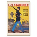 R000030-12 WWI Propaganda Poster US Marines Land and Sea Service Steel Metal Vintage Image Wall Deco