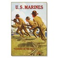 R000044-12 WWI Propaganda Poster US Marines Soldiers of the Sea Steel Metal Vintage Image Wall Decor
