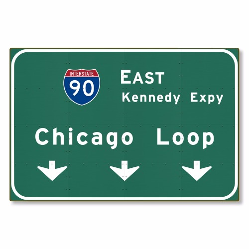 R000284-01-Chicago-Loop-I-90-E-Interstate-Illinois-tin-metal-steel-wall-decor-art