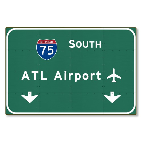 R000288-01-Atlanta-ATL-Airport-I-75-N-Interstate-Georgia-tin-metal-steel-wall-decor-art