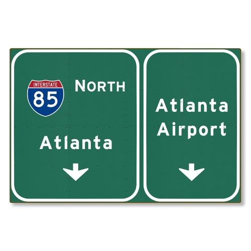 R000294-01-Atlanta-ATL-Airport-I-85-N-Interstate-Georgia-tin-metal-steel-wall-decor-art