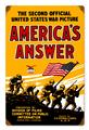 America's Answer WWI Poster Image Tin Metal Sign Reproduction
