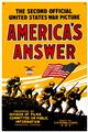 America's Answer WWI Poster Image Tin Metal Sign Large