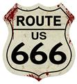 Highway US Route 666 Large Shield Tin Metal Sign Reproduction