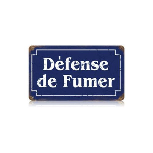defense de fumer tin metal sign reproduction american. Black Bedroom Furniture Sets. Home Design Ideas