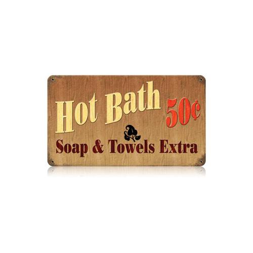 Hot Bath 50 Cents Tin Metal Sign Reproduction American