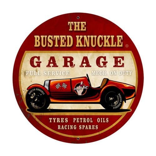 Old Garage Signs : Busted knuckle garage old race car full service large tin