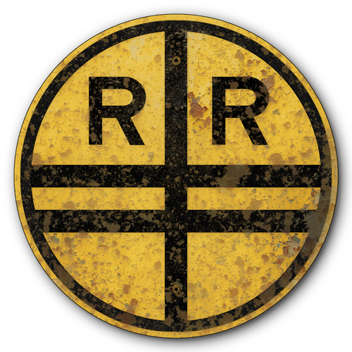 AYY017-1927-Railroad-Train-Crossing-Old-Rusted-Vintage-FX-tin-metal-sign