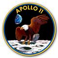 Apollo 11 Eagle Landing Insignia NASA Space Moon Tin Metal Sign :: 14 inch diameter