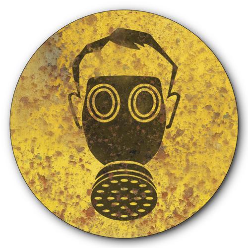 Gas Mask Signs Gas-mask-symbol-vintage