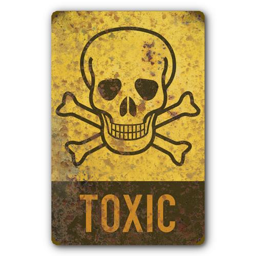toxic sign and skulls - photo #1
