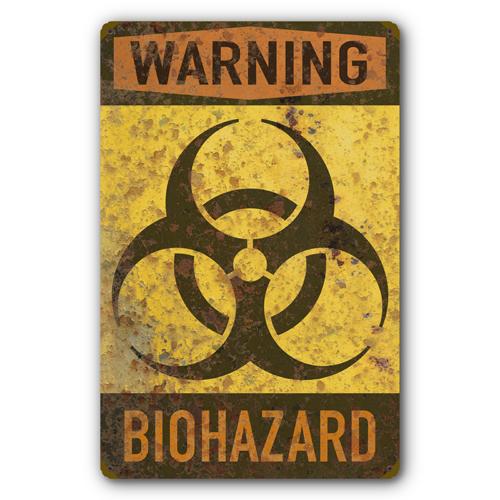 AYY033-Biohazard-Warning-Biological-Hazard-Symbol-Rust-FX-tin-metal-sign