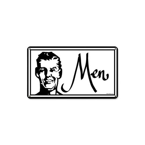 Mens Room Restroom Tin Metal Sign 8 X 14 Inches