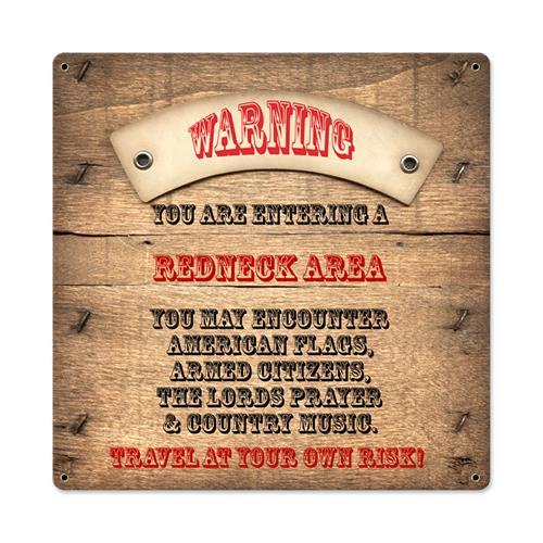 ATA053-Redneck-Area-Warning-tin-metal-sign