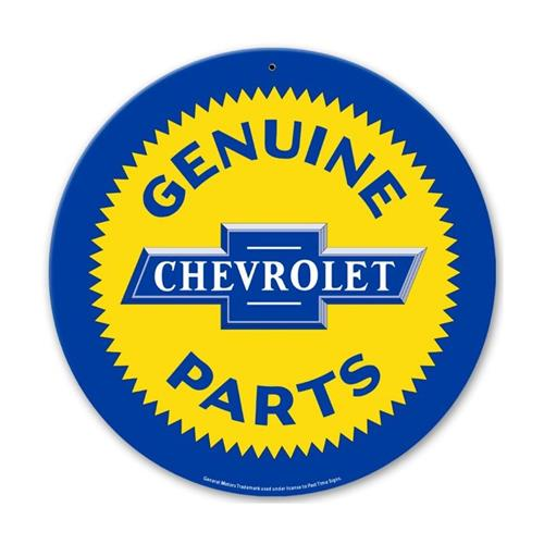 Gm General Motors Chevrolet Genuine Parts Logo Tin Metal