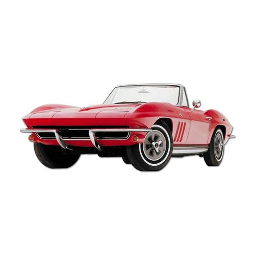 1964 corvette convertible gm general motors tin metal sign General motors convertibles