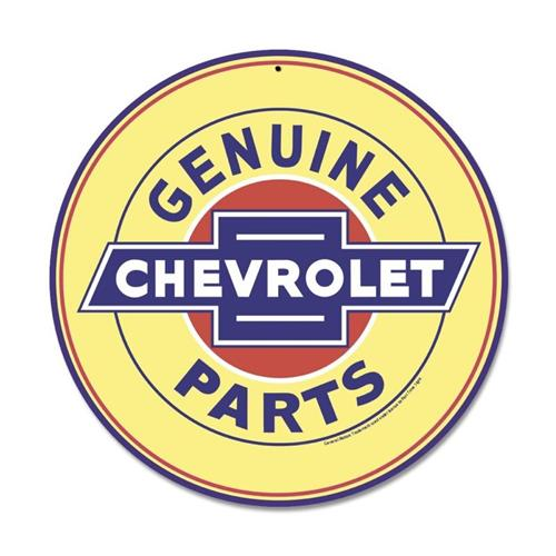 Genuine chevy parts yellow gm general motors tin metal for Genuine general motors parts