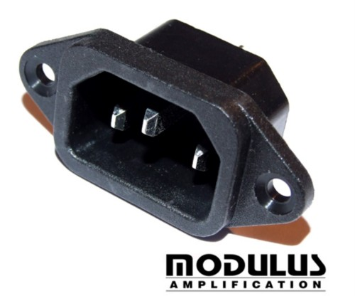IEC MAINS SOCKET- KETTLE PLUG SOCKET- CHASSIS MOUNT
