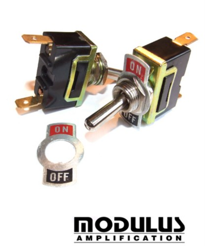 TOGGLE SWITCH - ON-OFF WITH REMOVABLE INDICATOR PLATE