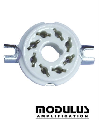 VALVE SOCKET - 8 PIN-OCTAL STYLE-WHITE CERAMIC-1 off