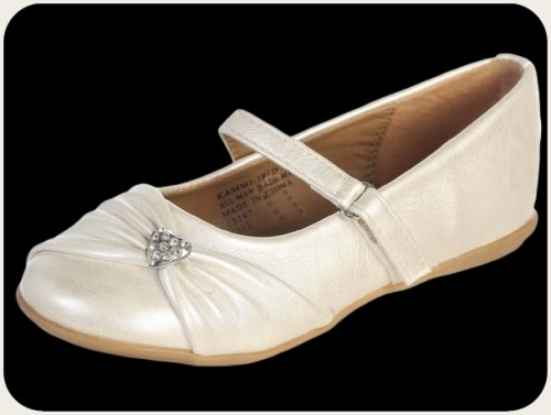 ivory dress shoes flats w bow rhinestone